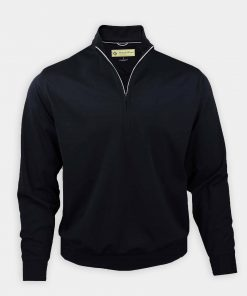 Fairway Pullover - Black DR211LS-MSP-001_FV (1)