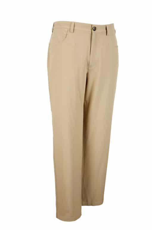 Mens Khaki Tan 5 pocket Golf Pant