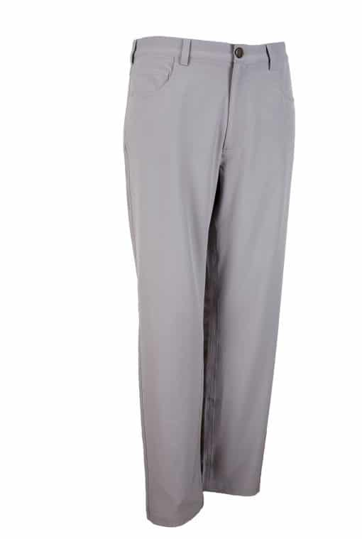 Mens Light Grey 5 pocket Golf Pant