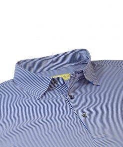 Mens Performance Golf Polo Shirt - Royal / White