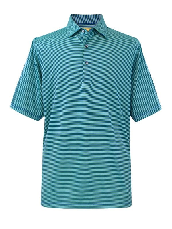 Mens Performance Golf Polo Shirt - Royal / Green