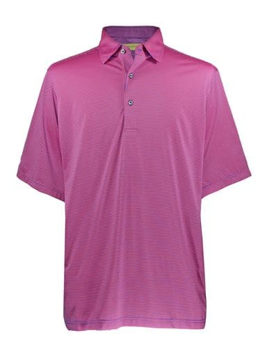 Mens Performance Golf Polo Shirt - Royal / Spice