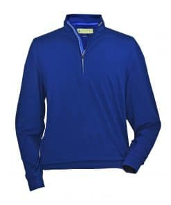Mens Navy Blue Golf Lightweight Fleece Pullover