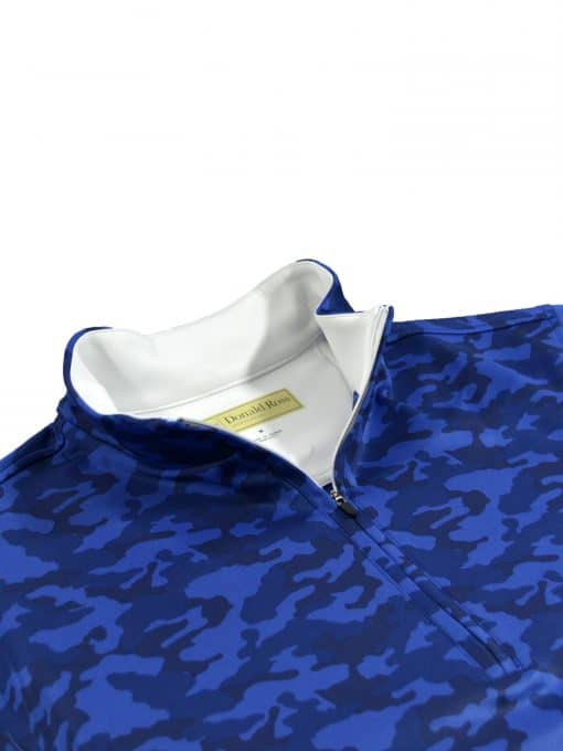 Mens Navy Camouflage Golf Pullover