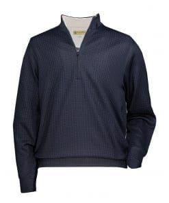 Mens Black Pattern Golf Pullover