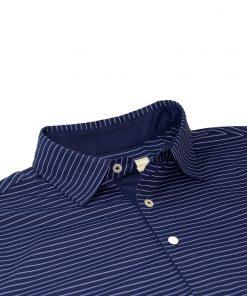 Mens Performance Golf Polo Shirt - Navy / Purple
