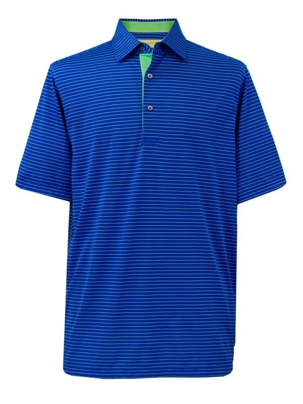 Mens Performance Golf Polo Shirt - Royal / Green