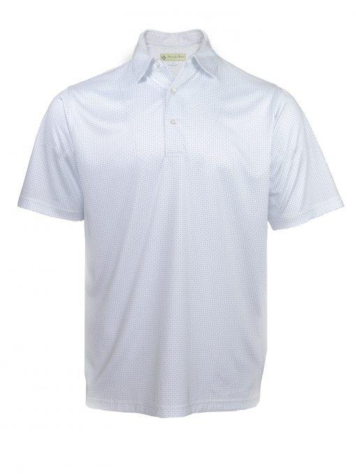 Mens Dots Print Performance Golf Polo Shirt