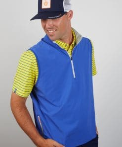 Mens Stretch Performance Pullover Golf Vest - Royal Blue SPORT