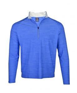 Mens Royal Blue Performance Stretch Golf SPORT Pullover