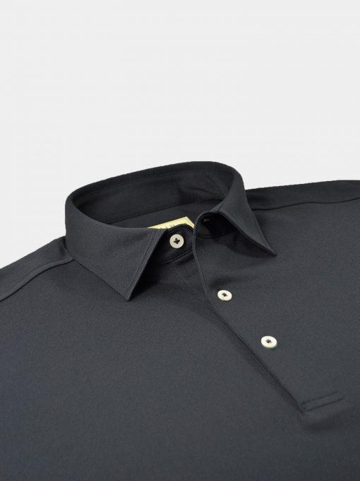 Solid Performance Pique Self Collar - Black DR015SC-MSP-001