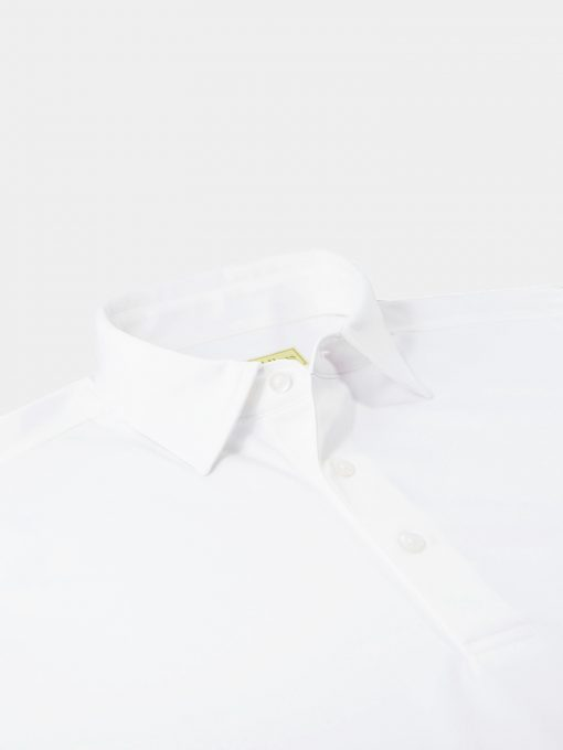 Solid Self Collar Performance Jersey - White DR076SC-MSP-100