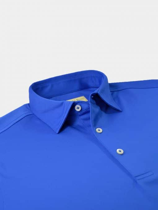 Solid Self Collar Performance Jersey - Royal DR076SC-MSP-440