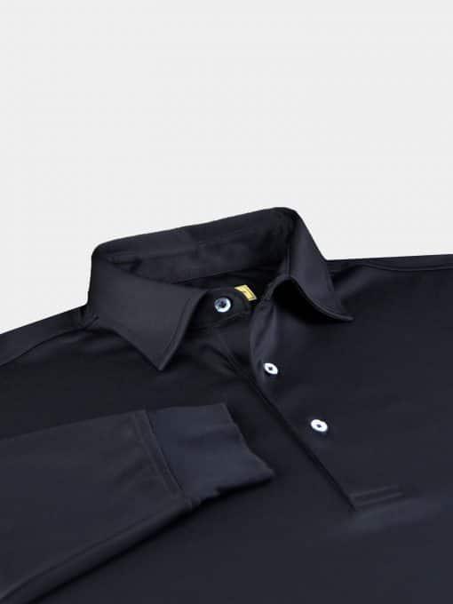 Long Sleeve Self Collar Jersey - Black DR159-MSP-001