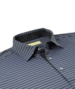 Multi Color Stripe Jersey - Black/Royal Multi DR021-220-001