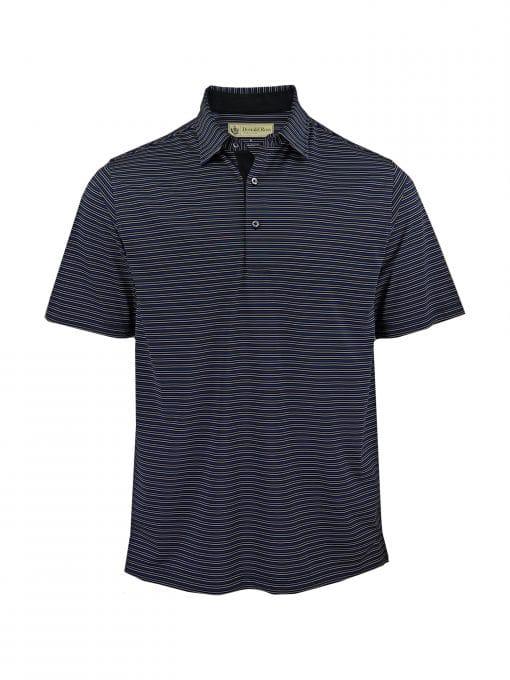 Multi Color Stripe Jersey - Black/Royal Multi DR021-220-001_FV