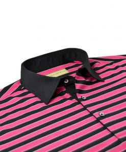 Bold Regimental Stripe Jersey - Black/Cabaret DR023-220-001