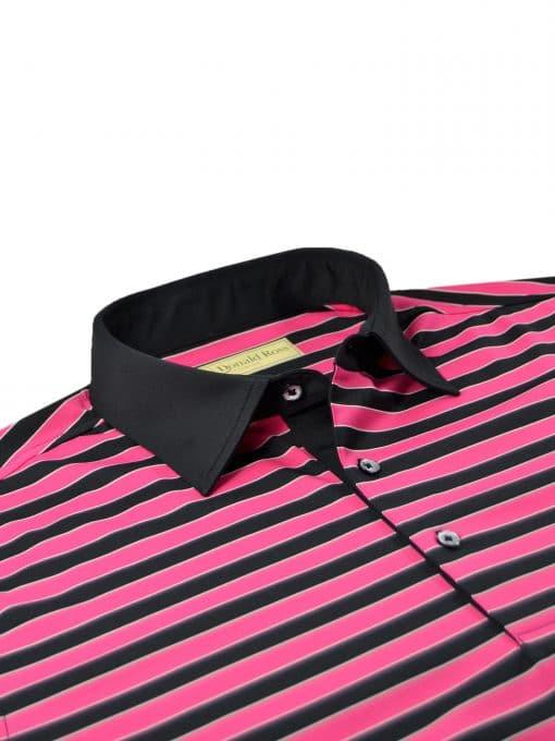 Bold Regimental Stripe Jersey - Black/Cabaret DR023-220-001