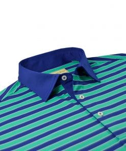 Bold Regimental Stripe Jersey - Navy/Emerald DR023-220-400