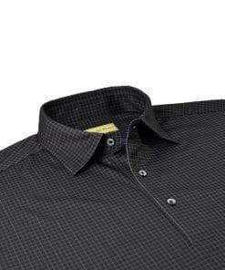 Check Print Jersey - Black/Cream DRP025-220-001-edited
