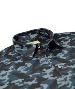 Tonal Camo Print Jersey - Black Camo DRP029-220-001