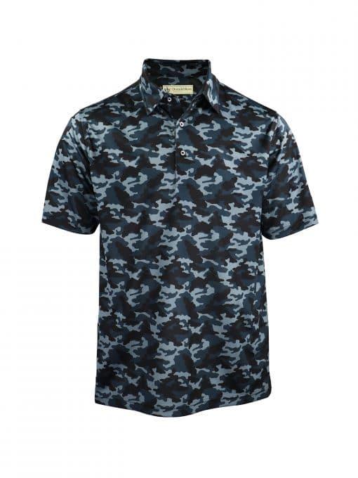 Tonal Camo Print Jersey - Black Camo DRP029-220-001_FV