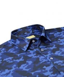 Tonal Camo Print Jersey - Navy Camo DRP029-220-400