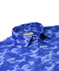 Tonal Camo Print Jersey - Royal Camo DRP029-220-440