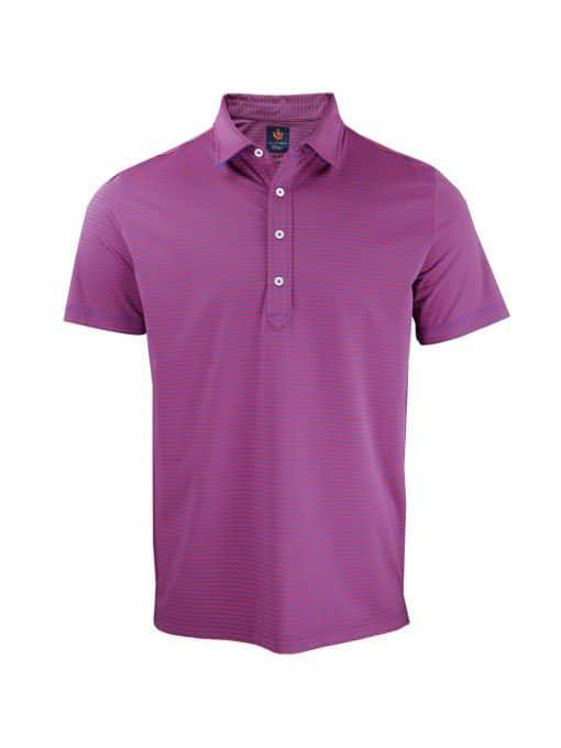 Sport Fit Owen Stripe Jersey Golf Shirt