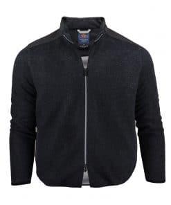 HUNTER Performance Wool Fleece Jacket - Charcoal SP400LS-220-051_FV