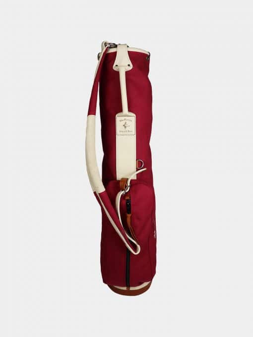 Waxed Canvas Golf Bag - Red Red-bag