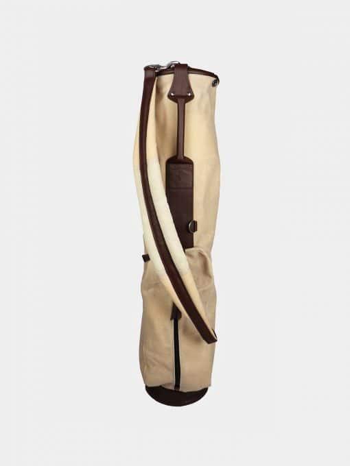 Waxed Canvas Golf Bag - Cream Tan-bag