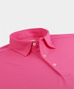 Solid Performance Pique Self Collar - Pinkberry DR015SC-121-507