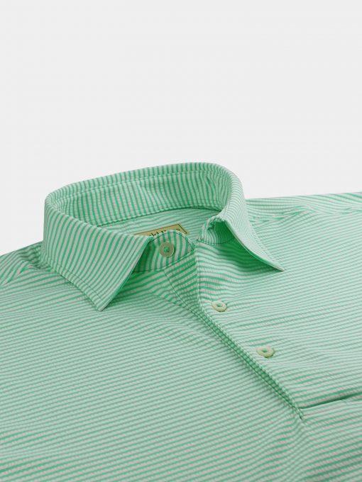 Seersucker Feeder Stripe Jersey - Fresh Mint/Cream DR019S-121-317