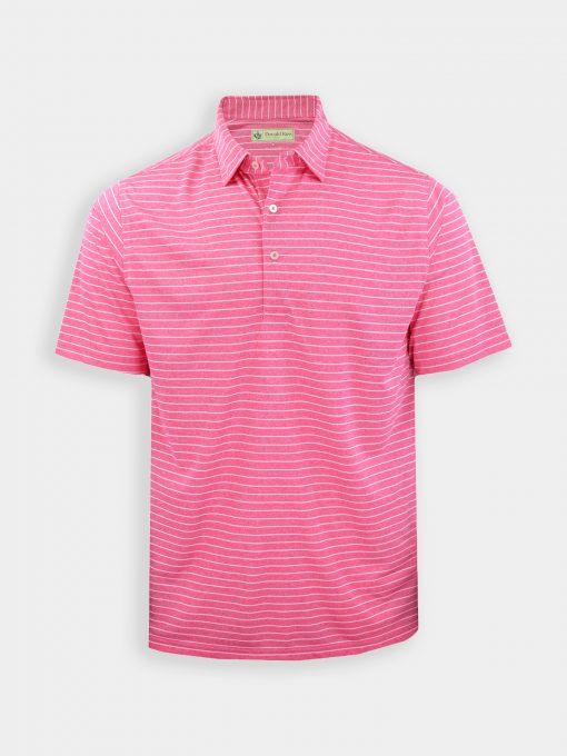 Pencil Stripe Melange Jersey - Pinkberry/Cream DR032-121-507_FV