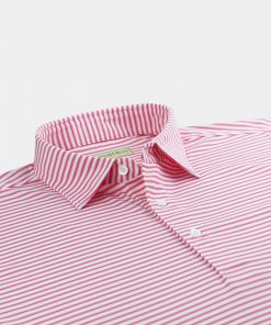 Mini Frame Stripe Jersey - White/Pinkberry DR045-121-100
