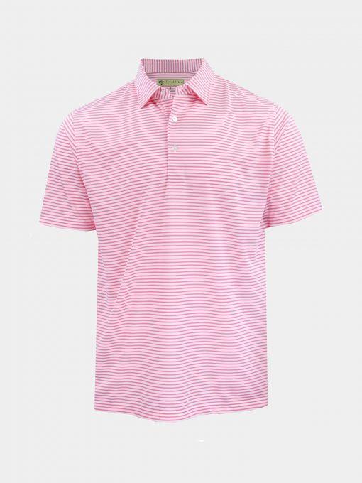 Mini Frame Stripe Jersey - White/Pinkberry DR045-121-100_FV