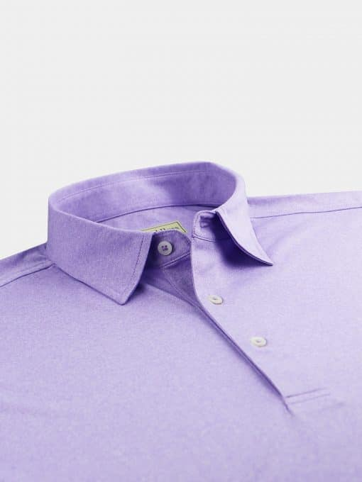 Melange Self Collar Performance Jersey - Juniper DR076M-121-642