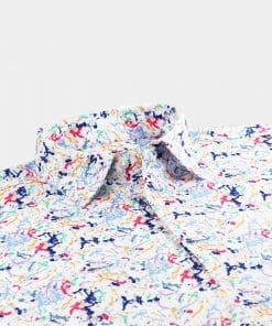 Splatter Print Jersey - White Multi DRP046-121-100