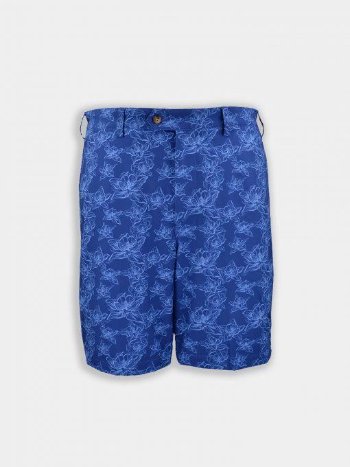 Walker Shorts - Floral Print - Navy Tonal DR069-121-400_Grey-Background