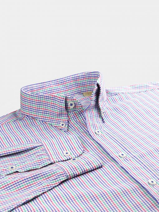 Tattersall Check Woven Sportshirt – White Multi DR671-121-100
