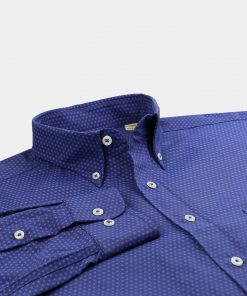 Tonal Daisy Print Woven Sportshirt - Navy/Tonal DR675-121-400